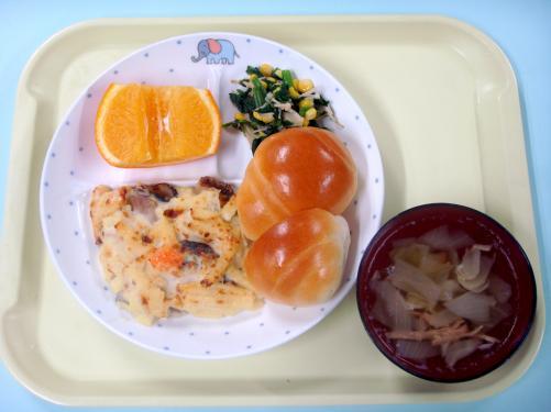 マカロニのモチモチした食感が「美味しい!」と嬉しそうな子どもたちでした。